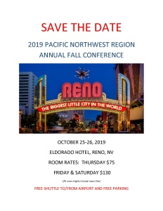 2019 Fall Conference Save the Date Flyer